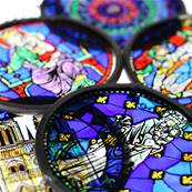 Notre-Dame West Rose Window Stained Glass, small size