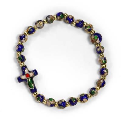 De Perles De Bracelet Bracelet Bleu Cloisonnées b7yYgf6